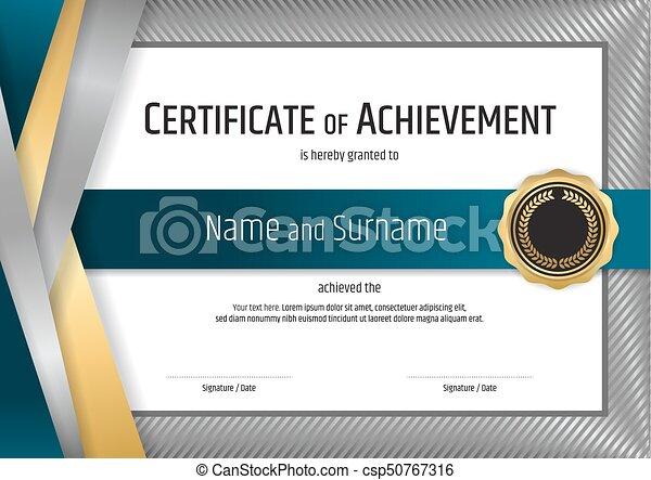 Terminación, certificado, marco, diploma, graduación, plata ...