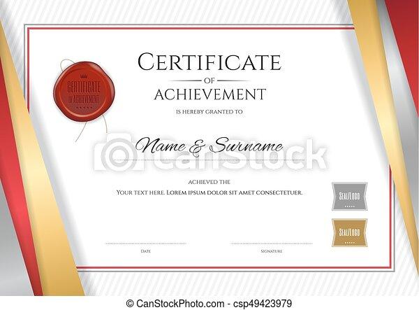 Terminación, dorado, certificado, marco, diploma, graduación ...