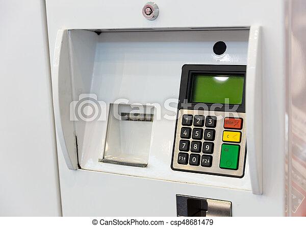 terminal, bensin, betalning - csp48681479