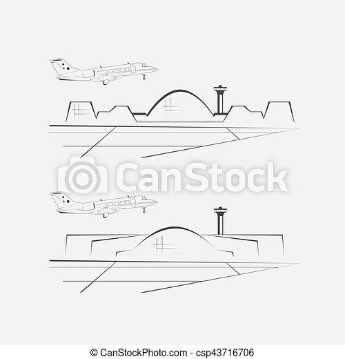 Flughafengebäude. Terminal Architektur - csp43716706