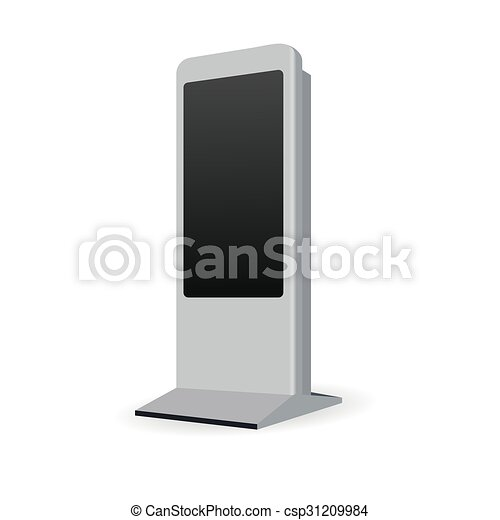 terminal, information, kiosque, stand, interactif - csp31209984