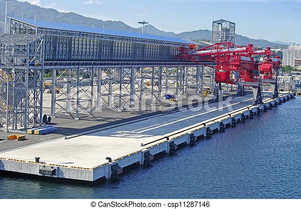 terminal, pétrochimique, produits chimiques, chargement, vaisseau - csp11287146