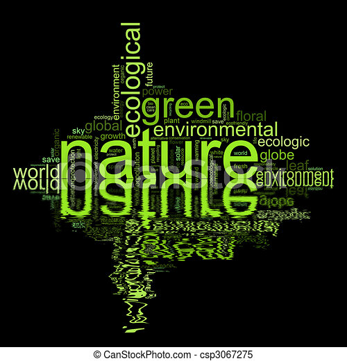termini, come, natur, illustrazione, ambiente, o - csp3067275