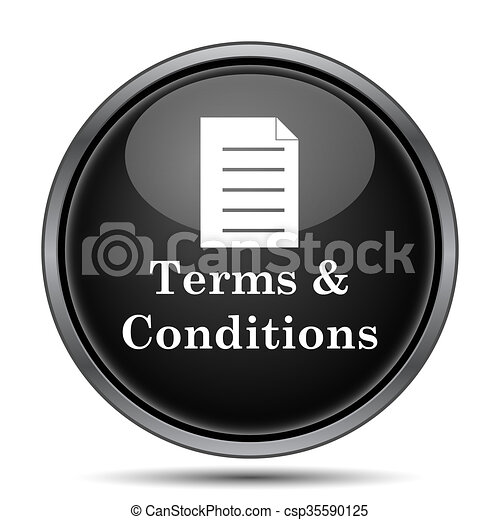 Terms and conditions icon - csp35590125