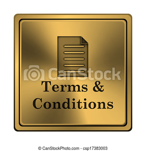 Terms and conditions icon - csp17383003