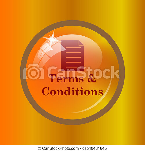 Terms and conditions icon - csp40481645