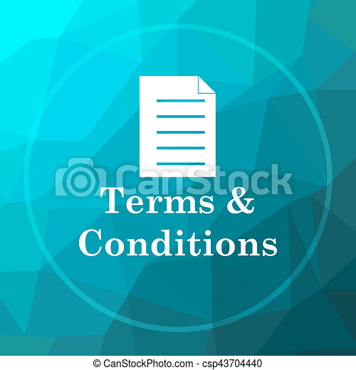 Terms and conditions icon - csp43704440