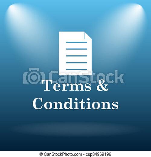 Terms and conditions icon - csp34969196