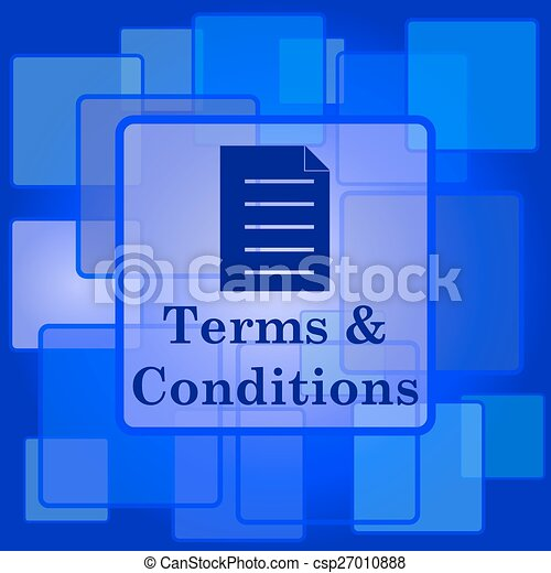 Terms and conditions icon - csp27010888