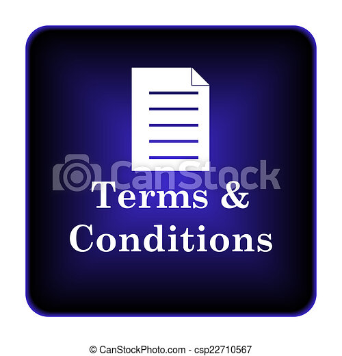 Terms and conditions icon - csp22710567