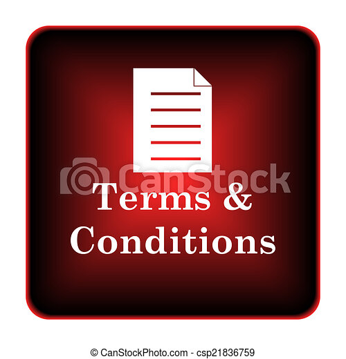 Terms and conditions icon - csp21836759