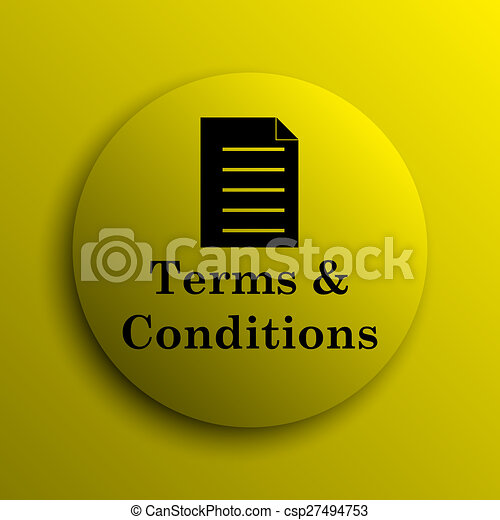 Terms and conditions icon - csp27494753