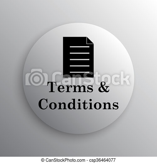 Terms and conditions icon - csp36464077