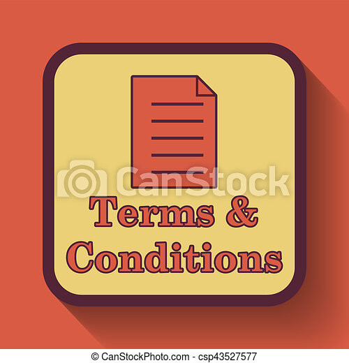 Terms and conditions icon - csp43527577