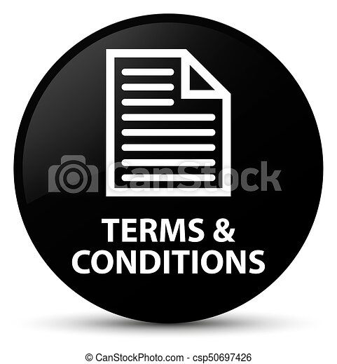 Terms and conditions (page icon) black round button - csp50697426