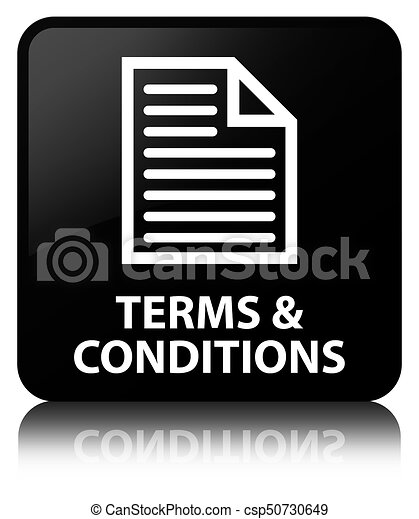 Terms and conditions (page icon) black square button - csp50730649