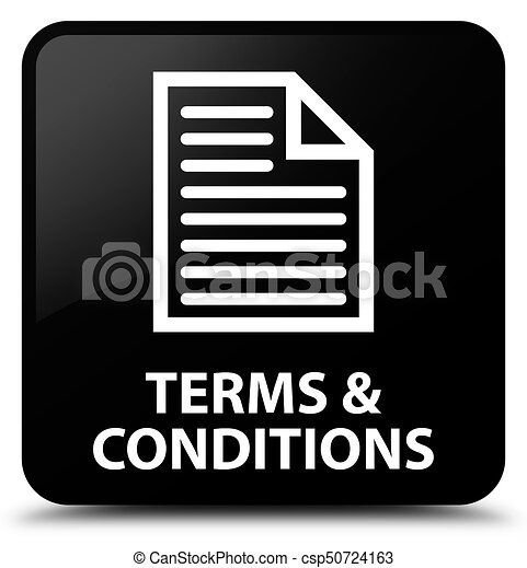 Terms and conditions (page icon) black square button - csp50724163
