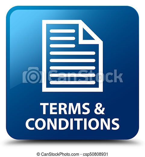 Terms and conditions (page icon) blue square button - csp50808931
