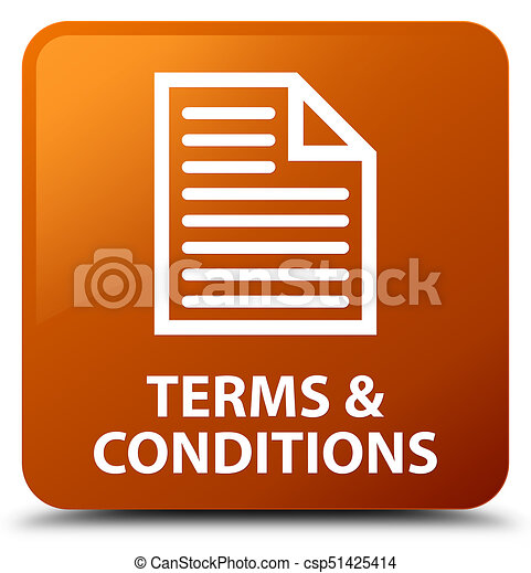 Terms and conditions (page icon) brown square button - csp51425414