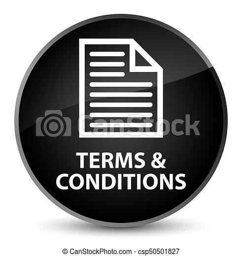 Terms and conditions (page icon) elegant black round button - csp50501827