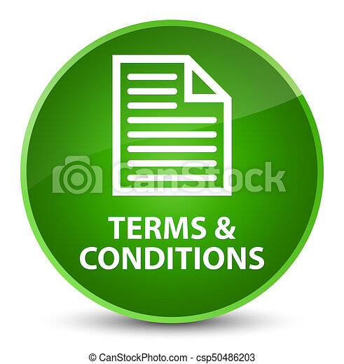 Terms and conditions (page icon) elegant green round button - csp50486203