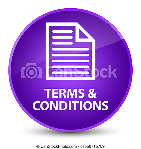 Terms and conditions (page icon) elegant purple round button - csp50715709