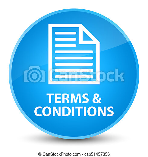 Terms and conditions (page icon) elegant cyan blue round button - csp51457356