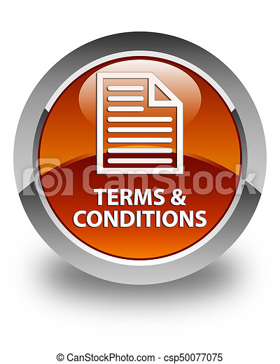 Terms and conditions (page icon) glossy brown round button - csp50077075