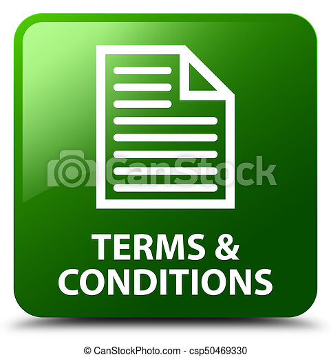 Terms and conditions (page icon) green square button - csp50469330