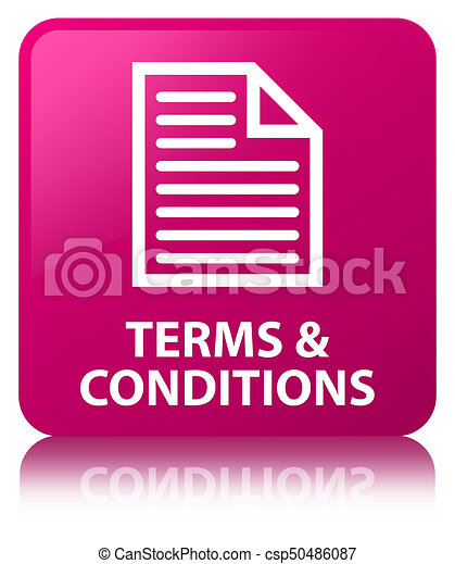 Terms and conditions (page icon) pink square button - csp50486087