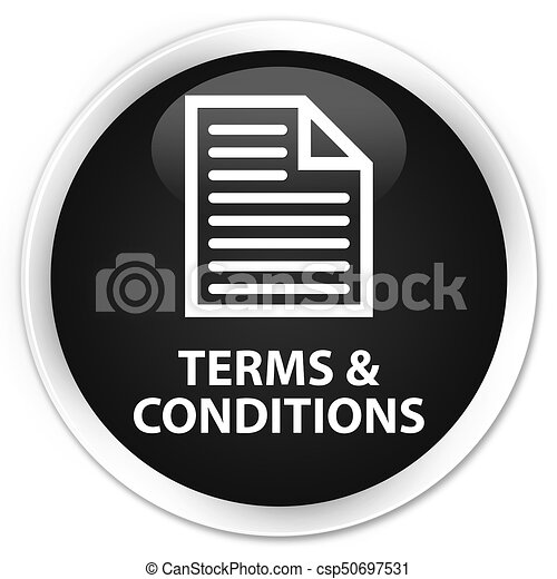 Terms and conditions (page icon) premium black round button - csp50697531