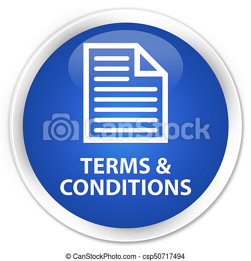 Terms and conditions (page icon) premium blue round button - csp50717494