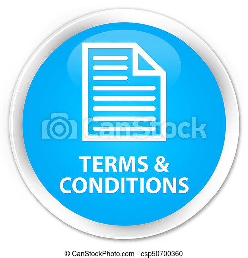 Terms and conditions (page icon) premium cyan blue round button - csp50700360