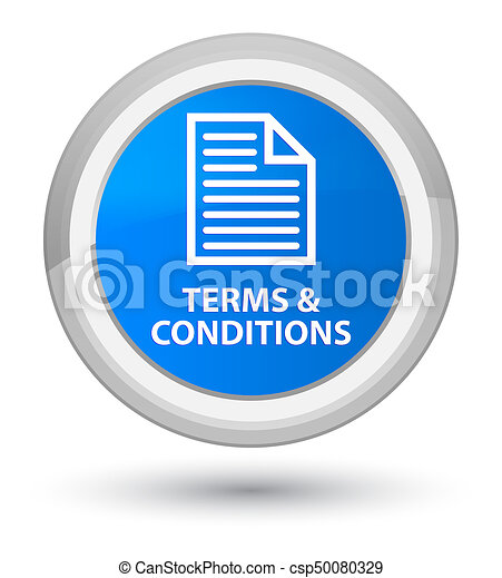 Terms and conditions (page icon) prime cyan blue round button - csp50080329