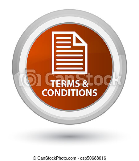 Terms and conditions (page icon) prime brown round button - csp50688016