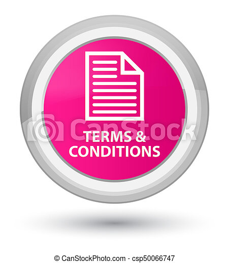 Terms and conditions (page icon) prime pink round button - csp50066747