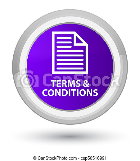 Terms and conditions (page icon) prime purple round button - csp50516991