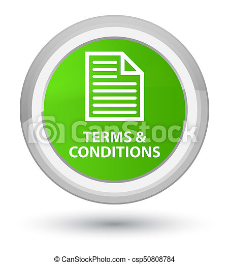 Terms and conditions (page icon) prime soft green round button - csp50808784