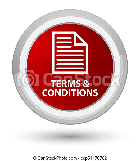 Terms and conditions (page icon) prime red round button - csp51476762