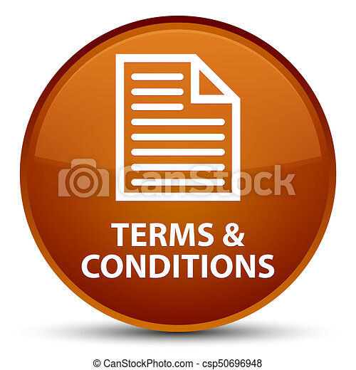 Terms and conditions (page icon) special brown round button - csp50696948