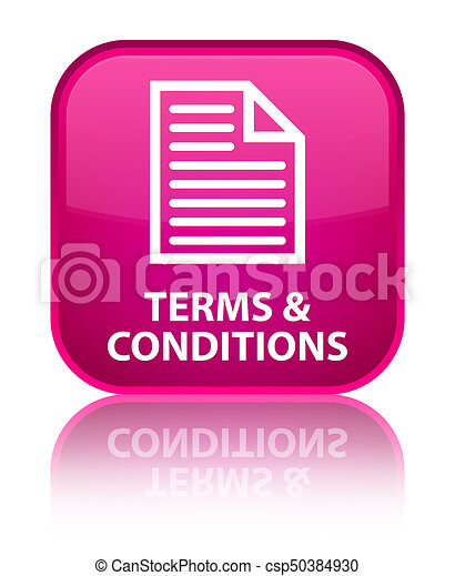 Terms and conditions (page icon) special pink square button - csp50384930