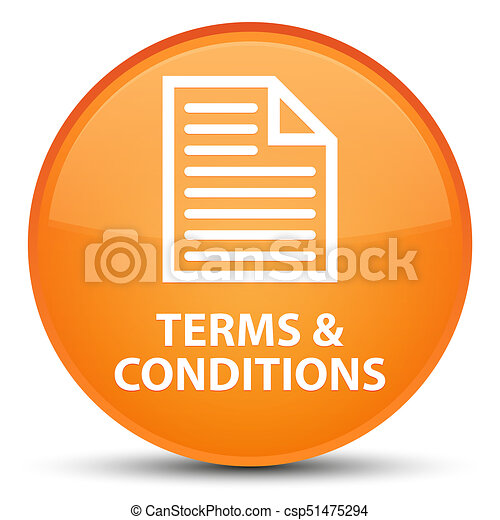 Terms and conditions (page icon) special orange round button - csp51475294
