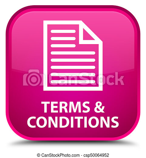 Terms and conditions (page icon) special pink square button - csp50064952