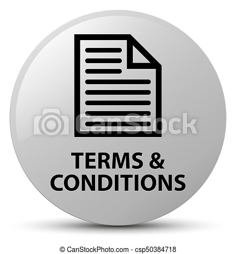 Terms and conditions (page icon) white round button - csp50384718