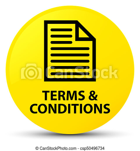 Terms and conditions (page icon) yellow round button - csp50496734