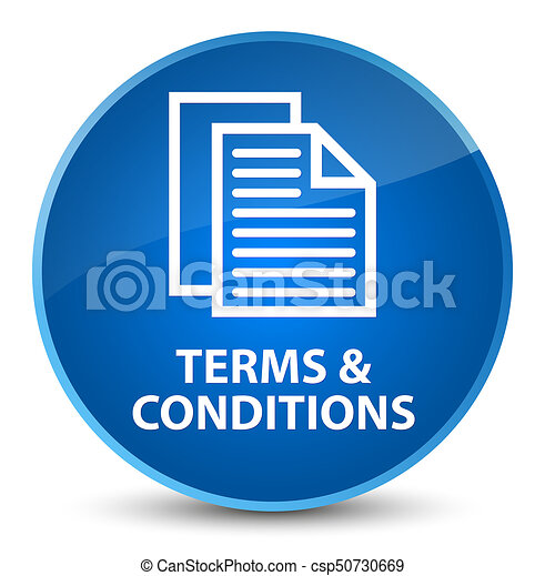 Terms and conditions (pages icon) elegant blue round button - csp50730669