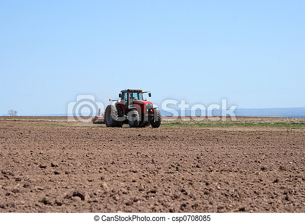 terra, arar, trator - csp0708085