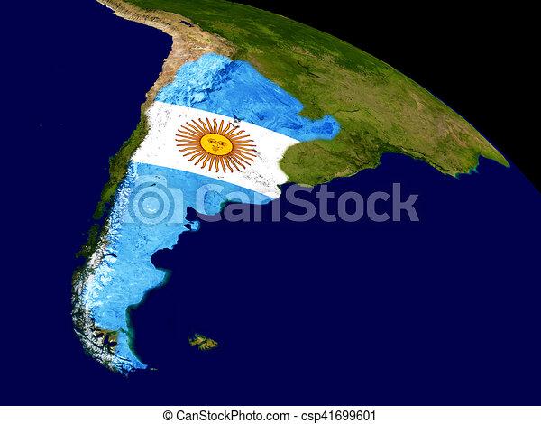 Terra Bandiera Argentina Mappa Elementi Illustration