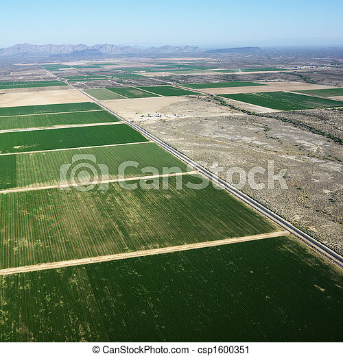 terra cultivada, aerial. - csp1600351