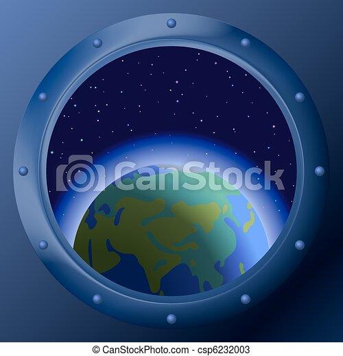 terra, janela, planetas, mãe - csp6232003